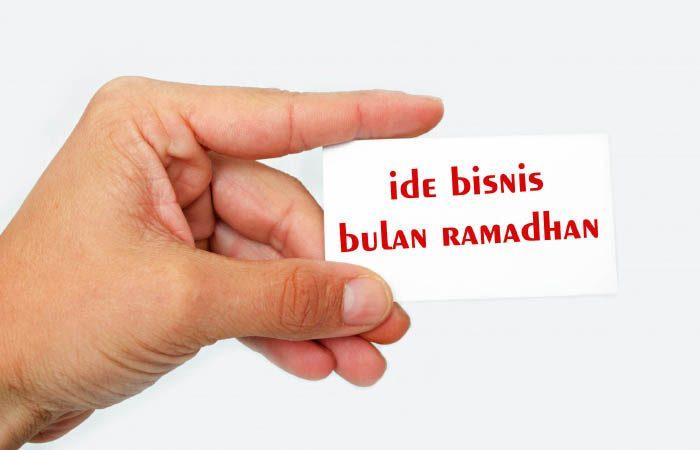 Ide Peluang Usaha Menjanjikan Di Bulan Ramadhan 1